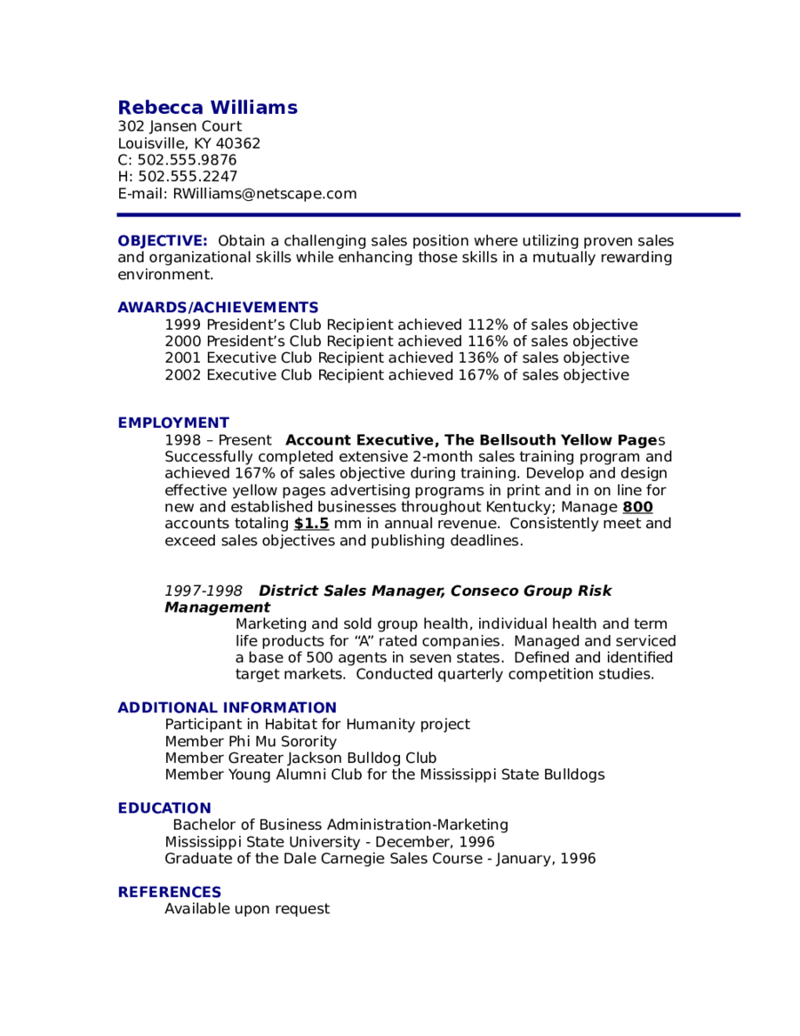 Sample Resume Objective Examples - Examples of Resumes