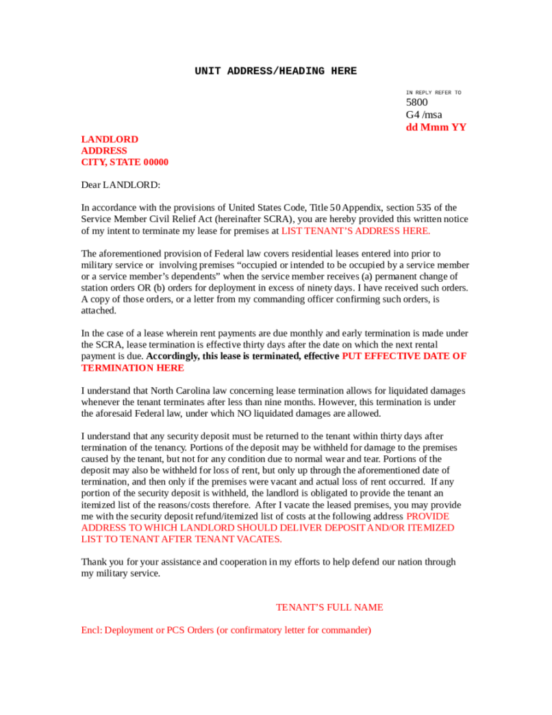 Termination Of Commercial Lease Letter Inviview