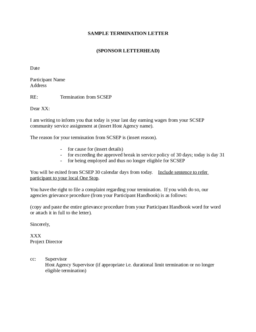 Business Contract Termination Letter Template Uk   Letter Template