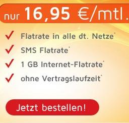 AllNet Flatrate & SMS Flat & Internet Flat 1GB