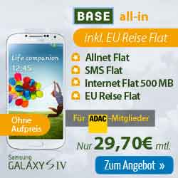 BASE all-in + EU Reise Flat + Handy ab 29.70€ mtl