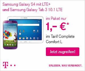 Galaxy S4 LTE + Tab 3 + Complete L 60.45€ mtl