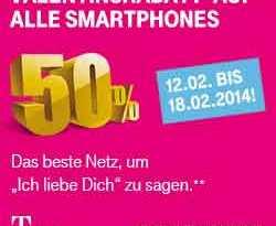 Telekom: 50% auf alle Smartphones!Telekom: 50% auf alle Smartphones!