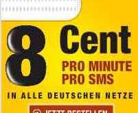 D1 Netz: Prepaid 8 Cent Minute und SMS