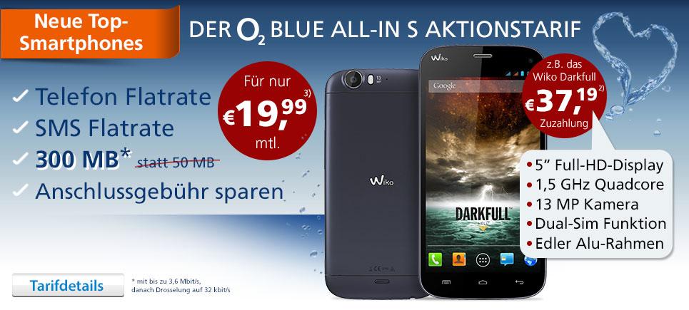 Smartphone + AllNet Flat + Internet Flat 19.99€ mtl