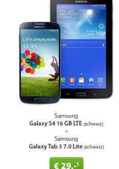 Galaxy Tab 3 + Galaxy S4 + AllNet Flat 24.99€ mtl