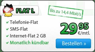 AllNet Flat + 2GB Datenvolumen -ohne Laufzeit- 29.99€ mtl