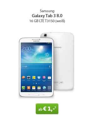 Galaxy Tab 3 8.0 LTE + Internet Flatrate nur 11€ mtl