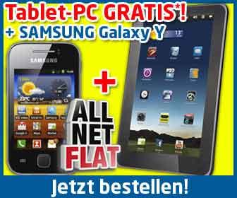 Tablet gratis + AllNet Flat + Handy 19.90€ mtl