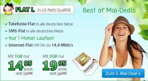 FLAT L 1000 + AllNet + SMS Flat 14.95€ mtl