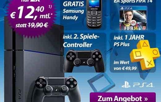 PS4 Jet Black + Beigaben 2 x 12.40€ mtl