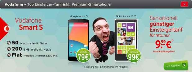 Galaxy S3 + Vodafone Smart S nur 9.99€ mtl