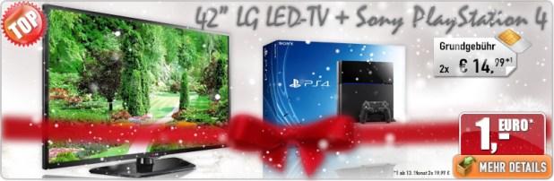42 LED-TV LG + Sony PlayStation 4 nur 29.98€ mtl