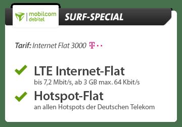 Internet Flat 3000 Special mit Hardware nur 9.99€ mtl