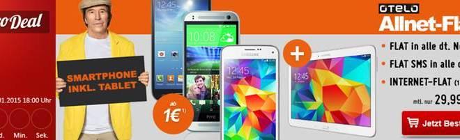 Otelo Allnet Flat XL mit Mini Smartphone und Tablet