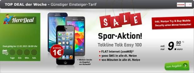 Telekom Talk Easy Sparaktion mit Top Smartphones ab 1€