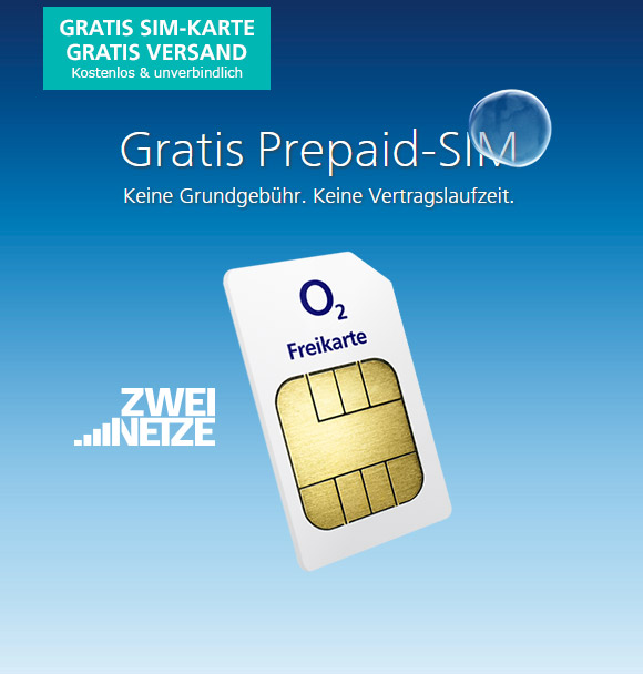 Kostenlose Sim Karte O2.O2 Freikarte Gratis Sim Mit 1 Guthaben