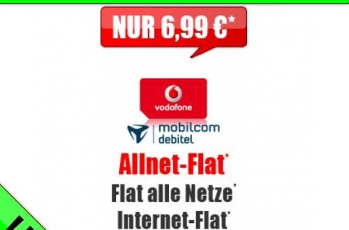 Vodafone Allnet-Flat + 1000 MB 6,99 € mtl.