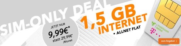 Telekom Allnet Flat + 1,5GB rechnerisch nur 9,99 Euro mtl.