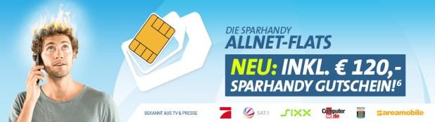 Allnet-Flat XL im Telekom Netz mit 4 GB + 120€ Gutschein - 19,90€ mtl.