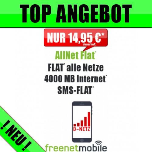 4GB Daten + Allnet + Vodafone nur 14,95€ mtl.