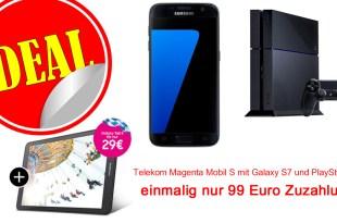 Galaxy S7+ Tab E + PS4+ Telekom Magenta Mobil S nur 44,95€ mtl.