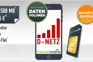 500 MB Internet + 100 Min + 100 SMS + monatlich kündbar nur 5,95€ mtl.
