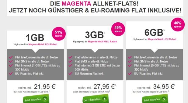 Telekom Magenta Mobil Tarife bis zu 51% sparen