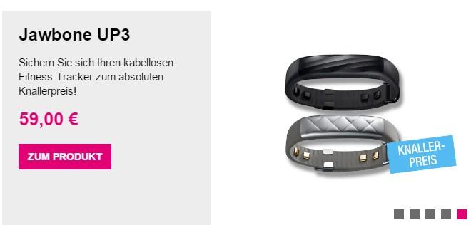 Jawbone UP3 Fitness-Tracker nur 53,90 Euro