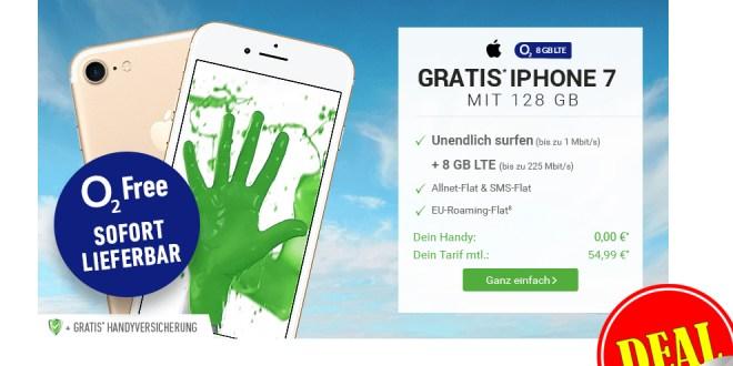 o2 Free XL+ iPhone 7+ 8GB LTE+ Allnet +EU+ Multicard nur 54,99€ mtl.