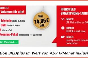 BILDconnect FLAT 3000 LTE nur 14,95€ mtl.