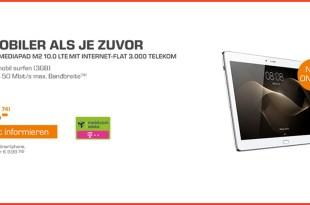 HUAWEI Mediapad M2 10.0 + 3GB LTE Telekom nur 9,99€ mtl.