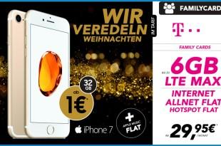 Telekom Family Card S mit iPhone 7 für nur 29,95€ mtl.