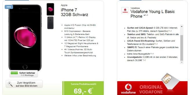 Vodafone Young LTE Tarife mit bis zu 7GB Internet-Flat