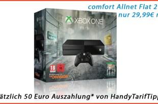 Xbox One 1TB + Allnet + 2GB nur 29,99€ mtl.