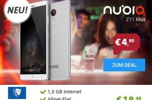 Brandneu: Nubia Smartphone Deals ab 9,99€ mtl.