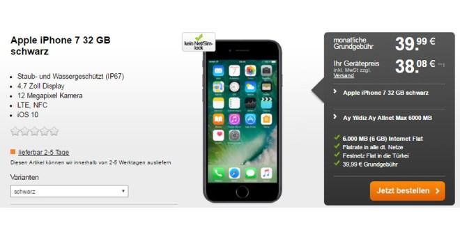 Ay Allnet Max 6gb T 252 Rkei Flat Iphone 7 Nur 39 99 Mtl Handytariftipp