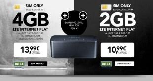 SAMSUNG Level mini Box + 4GB LTE + Allnet + EU nur 13,99€ mtl.