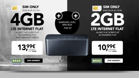 SAMSUNG Level mini Box + 4GB LTE + Allnet + EU nur 13,99€ mtl.