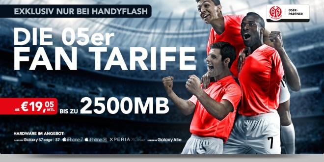 Mainz 05 Fan Tarife für 19,05€ mtl. mit Smartphone