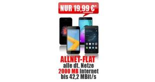 Allnet Flat + 2000 MB nur 19,99€ inkl. Smartphone