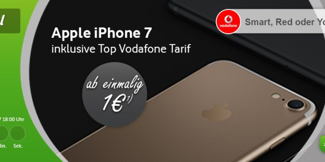 Apple iPhone 7 + 2GB LTE + Allnet + EU Roaming nur 39,99€ mtl.