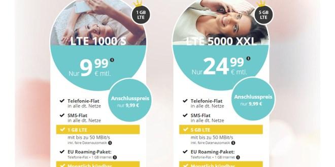 PremiumSIM: Neue Tarife mit bis zu 5 GB LTE schon ab 9,99€ im Monat