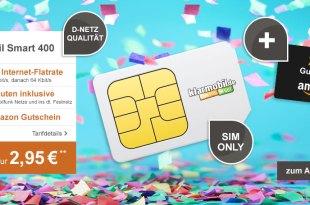 400MB + 100 Min + Telekom Netz + 20€ Gutschein nur 2,95€ mtl.