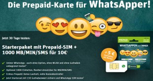 WhatsApp SIM ist die Prepaid-Karte für Surfer