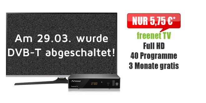 freenet TV mit DVBT2 und HD TV für 5,75€ mtl.