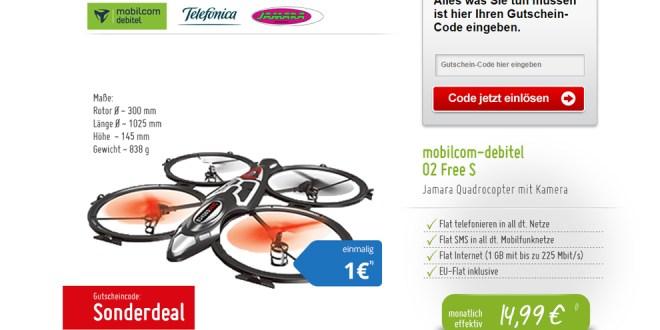 Quadrocopter inkl. Allnet-Flat mit LTE-Internet für mtl. 14,99€