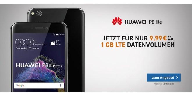Huawei P8 Lite mit 1GB LTE nur 9,99€ mtl.