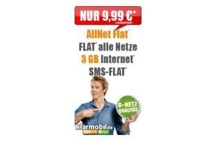 Allnet Flat mit 3 GB im Vodafone Netz nur 9,99€ mtl.