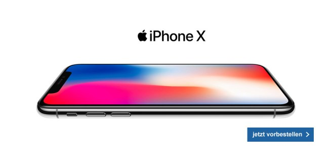 Apple iPhone X mit 4GB Internet nur 49,85€ mtl.